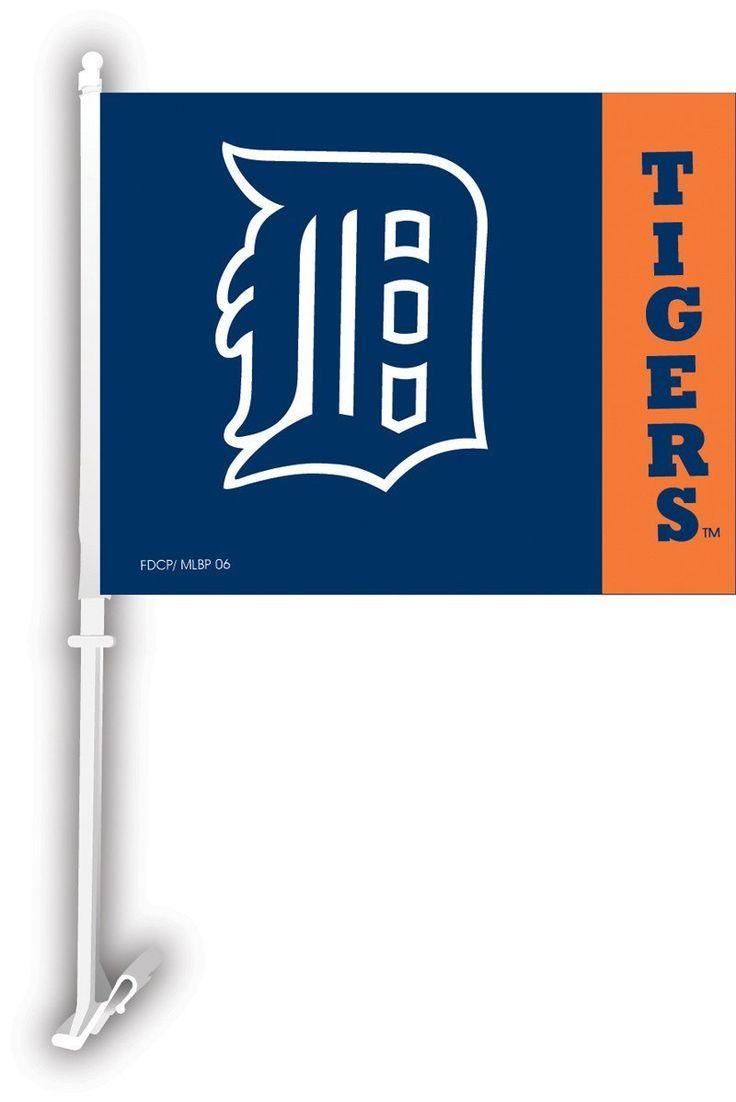 Detriot Tigers Car Flag W/Wall Brackett