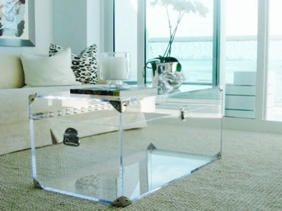 Magical Acrylic Coffee Table Enlighten Your Home Lucite Trunk By Serge De Troyer