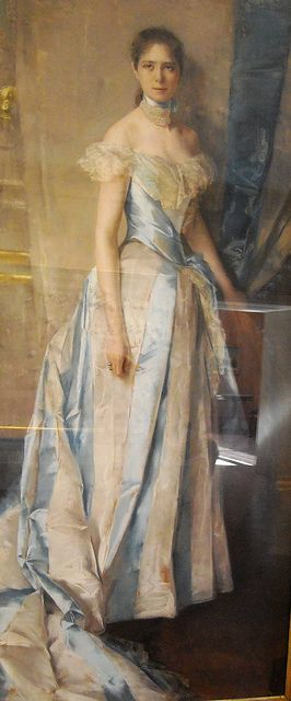 """Portrait of the Princess Marsiconovo"" (1889) by Charles Hermans (Bruxelles 1839-1911) - Naples, Capodimonte Museum by * Karl *, via Flickr"