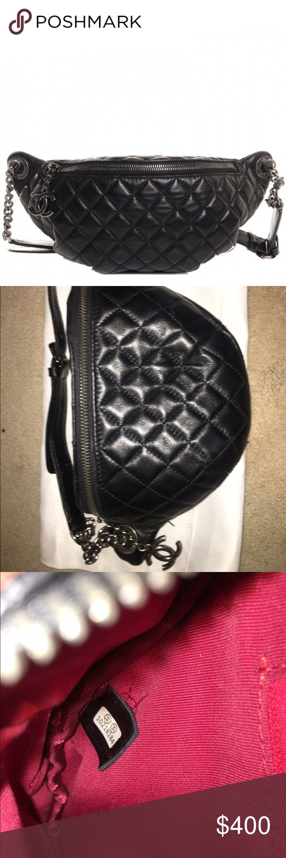 Chanel Fanny Pack I got this as a gift not sure of the authenticity but I've never used it if you would like more pics just ask 😬 CHANEL Bags Crossbody Bags
