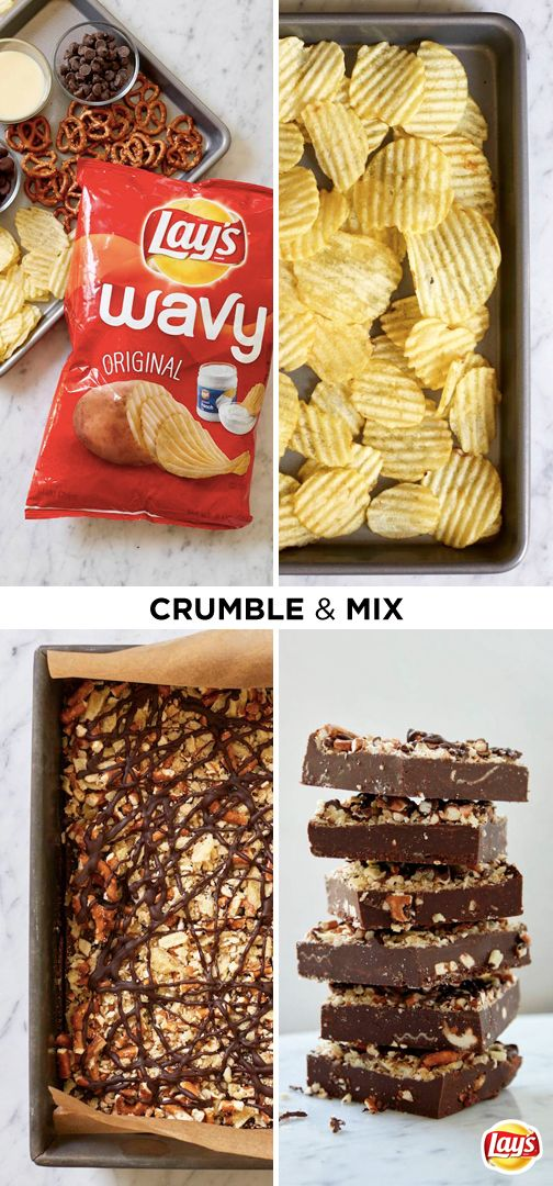 If you've got a Memorial Day party to attend, here's a quick and easy dessert hack that will surprise everyone! Simply top rich, chocolatey fudge with tasty snack favorites like crispy LAY'S potato chips and crunchy pretzels. No one will believe this tasty treat took less than ten minutes to make. Click for the full recipe.