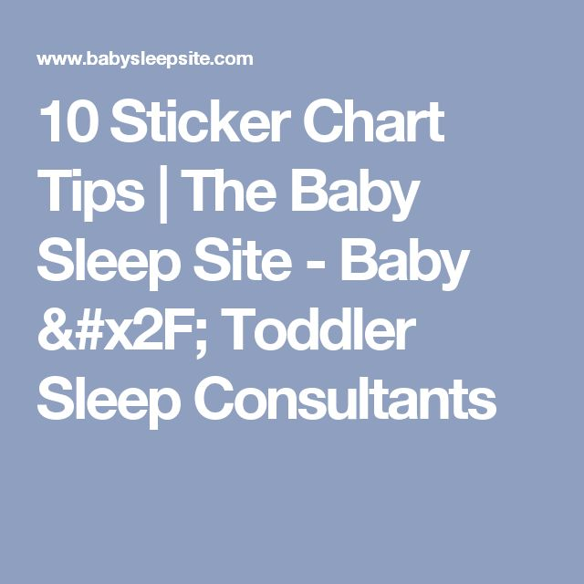 10 Sticker Chart Tips | The Baby Sleep Site - Baby / Toddler Sleep Consultants