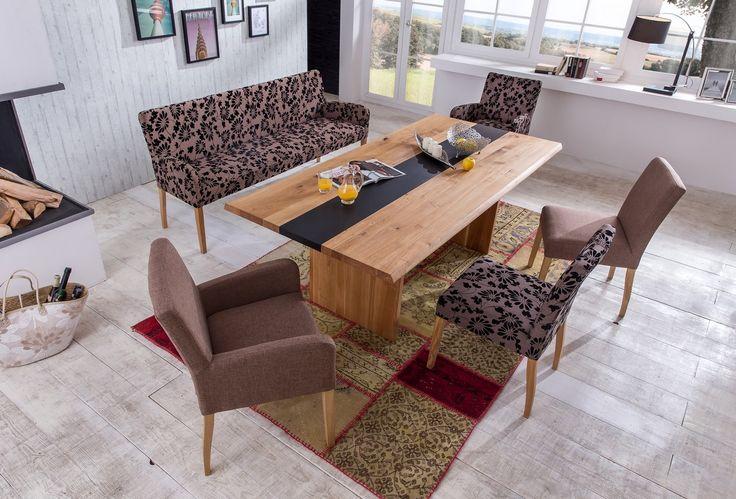 ALFO Sitzbank 183 cm Polsterbank massiv im Stoff Falcone (Stühle) - Möbel günstig kaufen