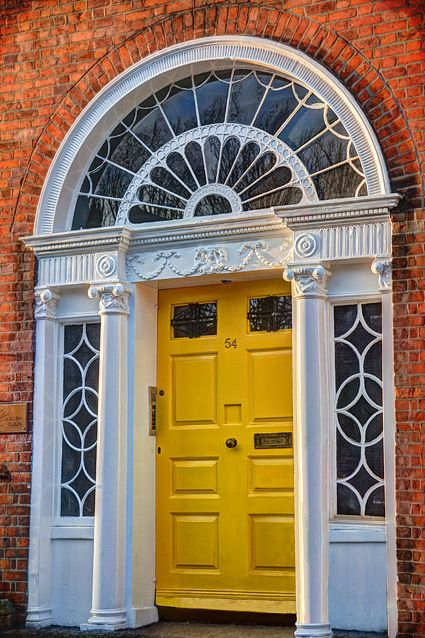 Georgian doorway on Dublin's Merrion Square