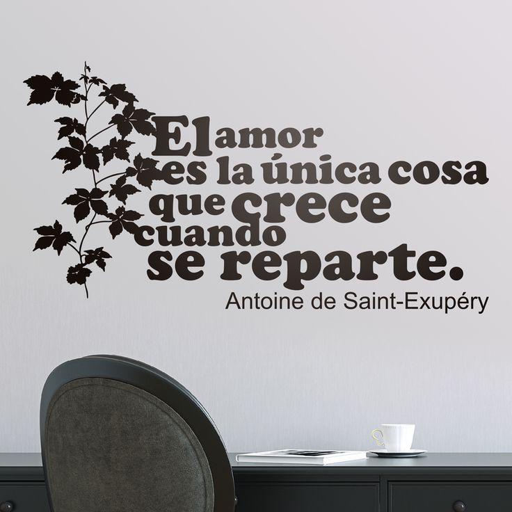 Amor Crece Exupery - VINILOS DECORATIVOS #teleadhesivo #decoracion