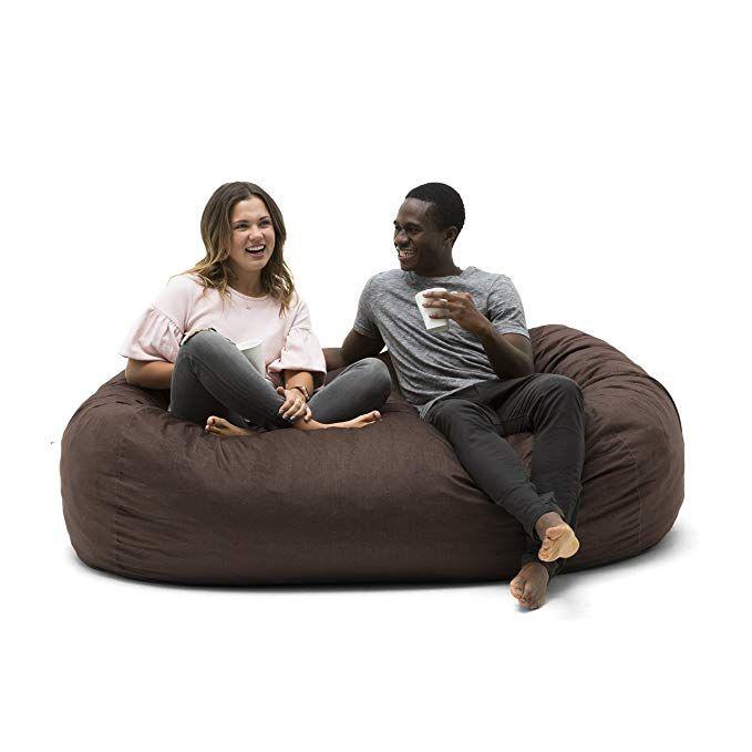 Amazon Com Big Joe Media Lounger Foam Filled Bean Bag Chair Black Gateway Adult Bean Bag Chair Bean Bag Chair Cool Bean Bags