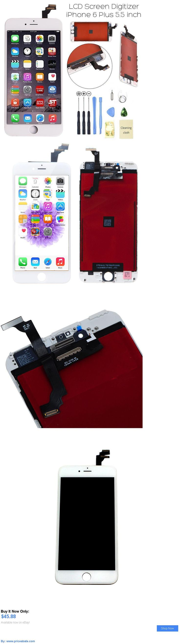 general for sale: For Iphone 6 Plus 5.5 White Lcd Digitizer Screen Assembly Replacement Frame Usa BUY IT NOW ONLY: $45.88 #priceabategeneralforsale OR #priceabate