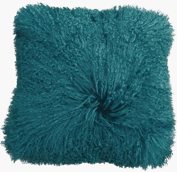 The Mongolian Square Toss Cushion - Teal from Urban Barn is a unique home décor item. Urban Barn carries a variety of Cushions and other  products furnishings.