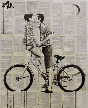 "Saatchi Art Artist Loui Jover; Drawing, ""love cycle"" #art"