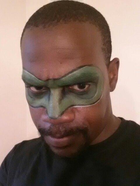 Green lantern mask face paint - photo#17
