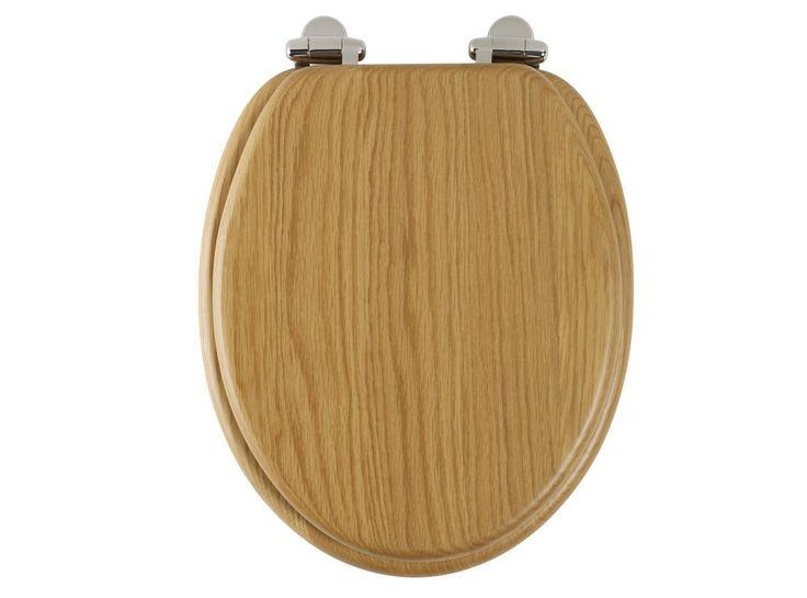 Roper Rhodes Traditional Solid Wood Soft Close Toilet Seat Natural Oak 8081nosc