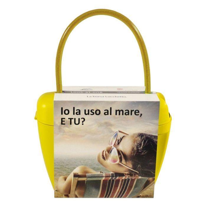 Look-At-One Borsa Lucchetto Giallo