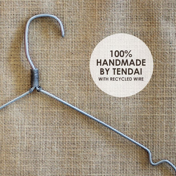 Recycling | Handmade wire hangers. Read about how our Recycled concept store got an added touch with the help of Tendai with these handmade hangers. #blog #recycle