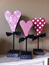 Valentine decor heart dowels