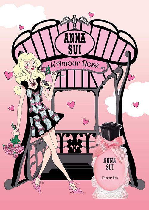 アナ スイの新作フレグランス「ラムール ローズ」 - みずみずしいクランベリーから官能的なムスクまで 写真2
