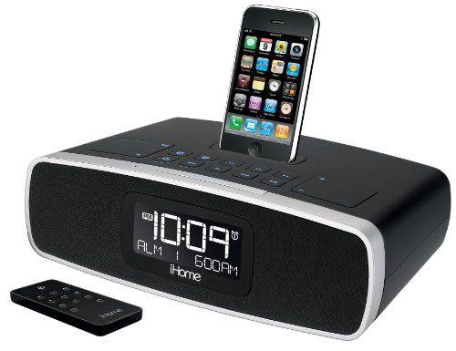 iHome iP92BZ Dual-Alarm Clock Radio for iPod (Black)