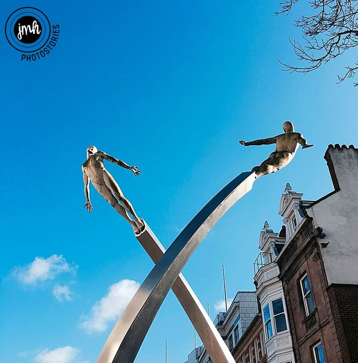Northampton town centre. The 'Discovery' sculpture in Abington Street, created by artist Lucy Glendinning in 2005 as a tribute to the work of Sir Francis Crick, a native of the town, who discovered DNA.