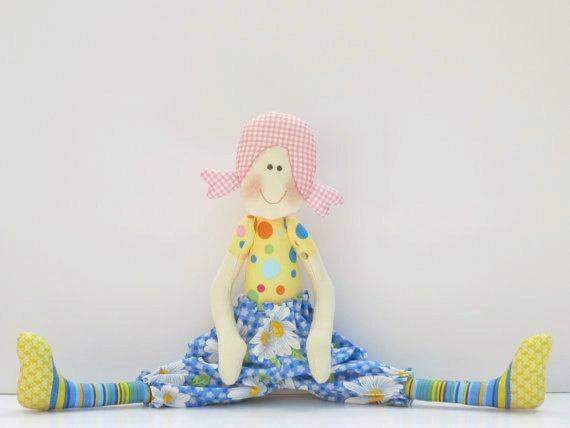 Cloth doll softiestuffed doll textile doll by HappyDollsByLesya, $32.00