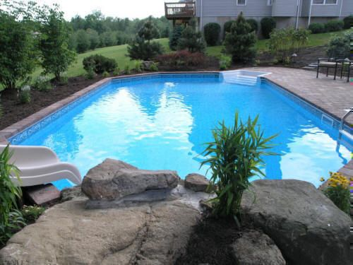 On ground pool: portion of the pool is built into the ground so it has the appearance of an in-ground pool but priced similarly to an above ground pool with access to pipes.