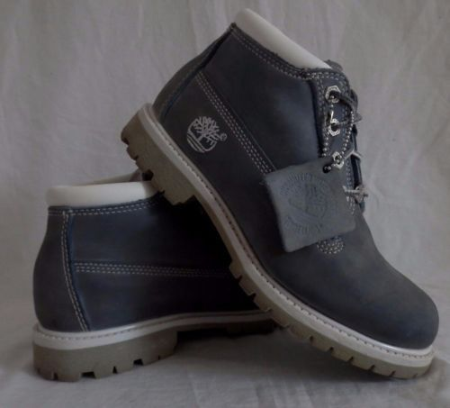 Timberland-Nellie-Gray-Nubuck-Leather-Waterproof-Ankle-Boots-23367-Women-039-s-6M