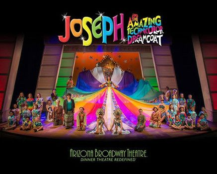 The cast of 'Joseph and the Amazing Technicolor Dreamcoat' at Arizona Broadway Theatre