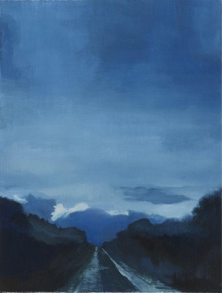 Stroude, Emma - Sky Road, Oil on Canvas, 41cm x 31cm, 2016
