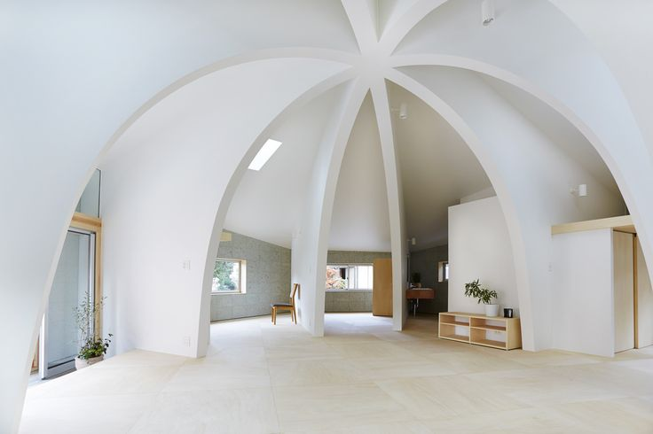 Built by Hiroyuki Shinozaki Architects in Tochigi, Japan with date 2013. Images by Fumihiko Ikemoto. This house is for a family of three persons in the area of houses and fields spreading. Each life space is divided by...