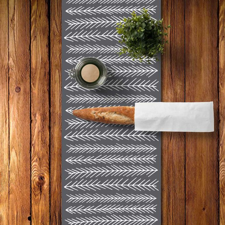 Rustic Table Runner, Rustic Dining Room, Scandinavian Table Runner, Scandinavian Dining Room, Graphic Table Runner, Graphic Kitchen by RiverOakStudio on Etsy https://www.etsy.com/listing/230236455/rustic-table-runner-rustic-dining-room