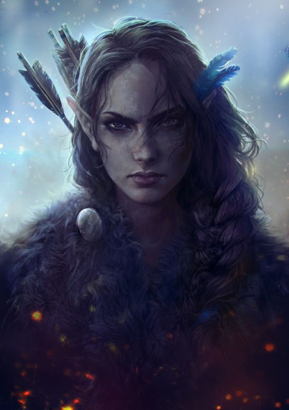 Mikandi✿ Vex'ahlia, or Vex, is a Half-Elf ranger and a member of Vox Machina. Art done by Ameera Sheikh