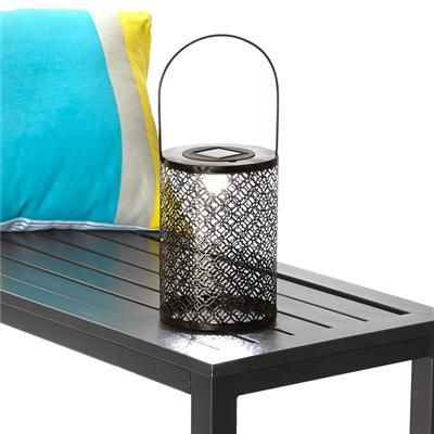 Image for Metal Lantern Solar Light from Kmart my new house Pinterest Gardens, Shops and Home