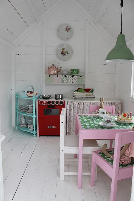 25 best ideas about playhouse decor on pinterest for Playhouse kitchen ideas