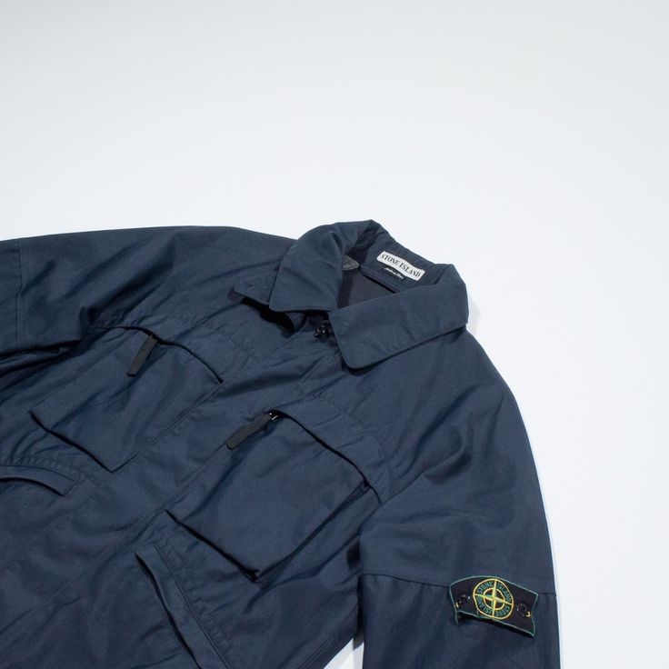 ✦ CLICK TO BUY ✦ STONE ISLAND - Blue nylon jacket - Giacca blu - Millesimè Vintage Clothing & accessories