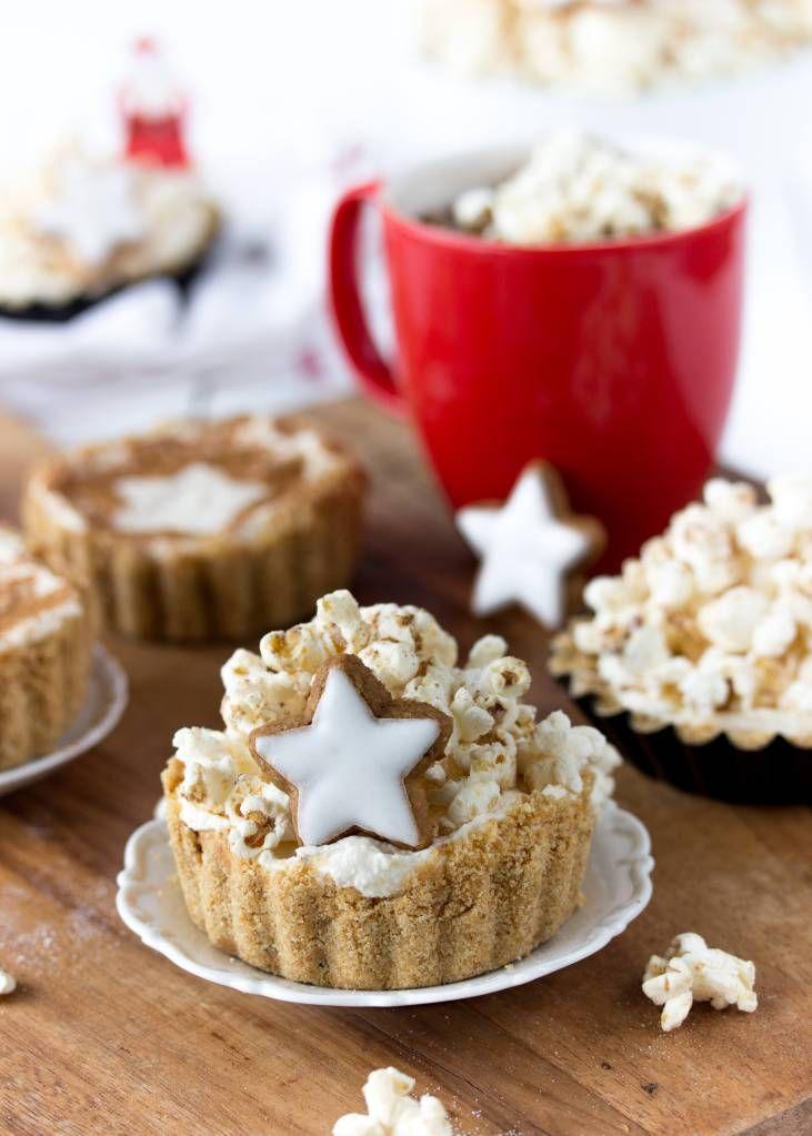 Zimtstern-Cheesecake-Tartelettes mit Zimt-Popcorn und dem Popcornloop (Werbung) – Emma's Lieblingsstücke