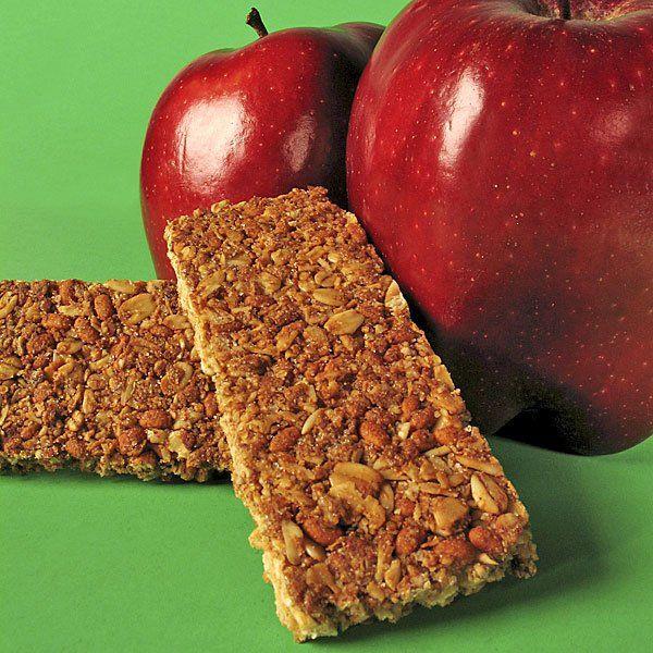 Barritas de cereales con manzana