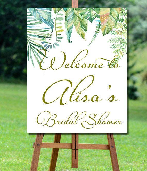 Bridal Shower Welcome Sign, Bridal Shower Sign, Jungle Bridal Shower Sign, Bridal Shower Welcome Sign, Floral Bridal Shower Welcome Sign