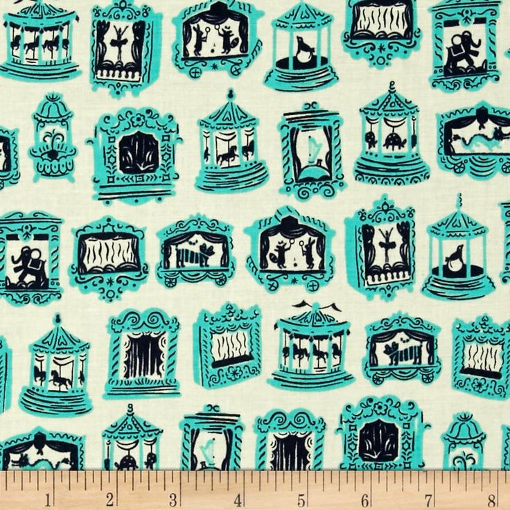 Cotton & Steel Penny Arcade Aqua from @fabricdotcom  Designed by Kimberly Kight for Cotton + Steel, this cotton print is perfect for quilting, apparel and home decor accents. Colors include navy blue, teal and ivory.
