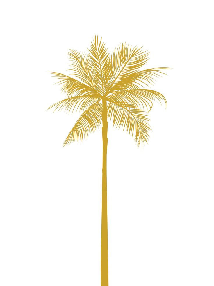Gold Palm Tree Print California Palm Tree by MelindaWoodDesigns, $5.00