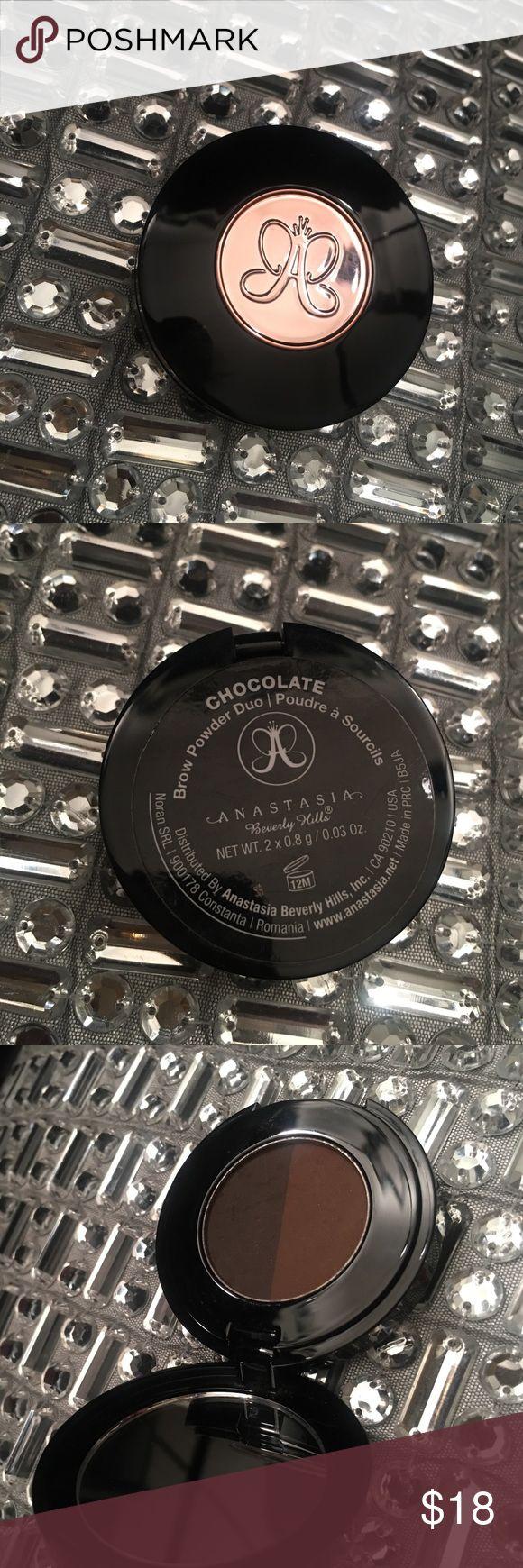 Anastasia Brow Powder in Chocolate Brow Powder Duo in Chocolate Anastasia Beverly Hills Makeup Eyebrow Filler