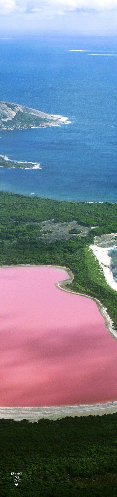 Hiller lake (pink lake), Western Australia