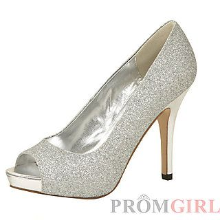 Silver Glitter Mylie Shoes by Colorful Creations at PromGirl.com