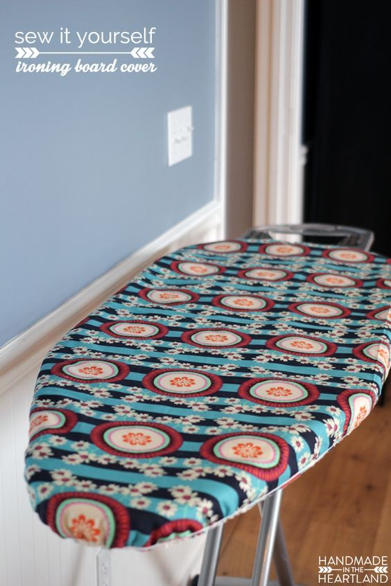 how to Make an Ironing Board Cover, step by step instructions and photo tutorial for making your own ironing board cover.