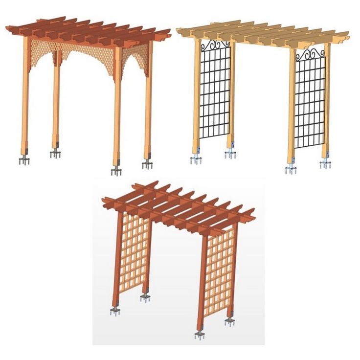 Grape arbor designs plans woodworking projects plans for Free standing garden trellis designs