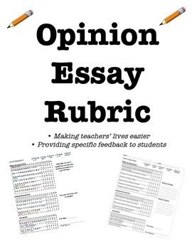 opinion essay rubric ontario Free, printable opinion, persuasive writing prompts to help students develop strong writing skills for class or home use click to get started.