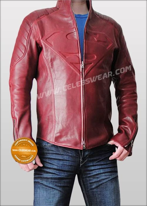 Superman smallville tom welling halloween costume  Buy Smallville Leather Jacket on Sale. Cheap Superman Smallville Shield Jacket in Red and Black Leather Available.
