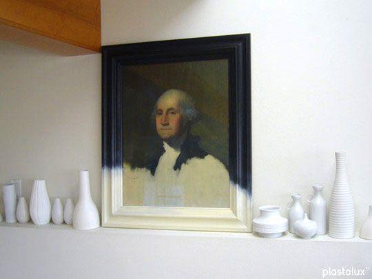 Old Frames Turned Modern ArtGeorge Washington, Modern Art, Dips Dyed, Frames Prints, Design Interiors, Old Frames, Turn Modern, Frames Turn, Painting Frames