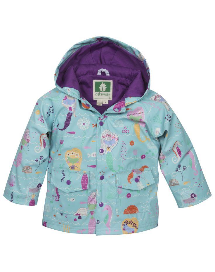 Oakiwear Kid's Mermaids Rain Coat | Oaki - Rain Gear, Kids rain suits, kids waders, kids rain gear, and kids rain coats