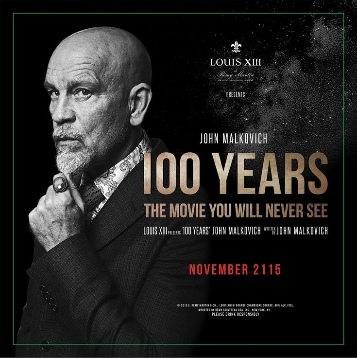 "A Cognac Brand Just Made a John Malkovich Film That No One Will See for 100 Years | Adweek. This is in the ""Odd"" category."