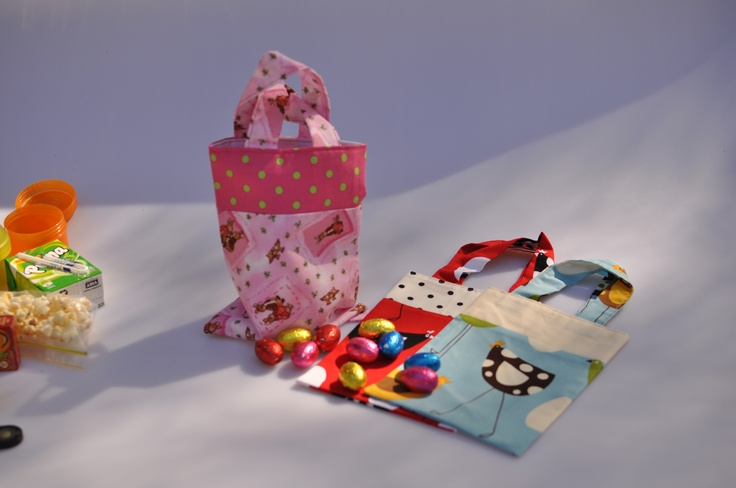 Kiddy collection bags....for keeping treasures, easter eggs and other special find....  www.smalltotall.com.au
