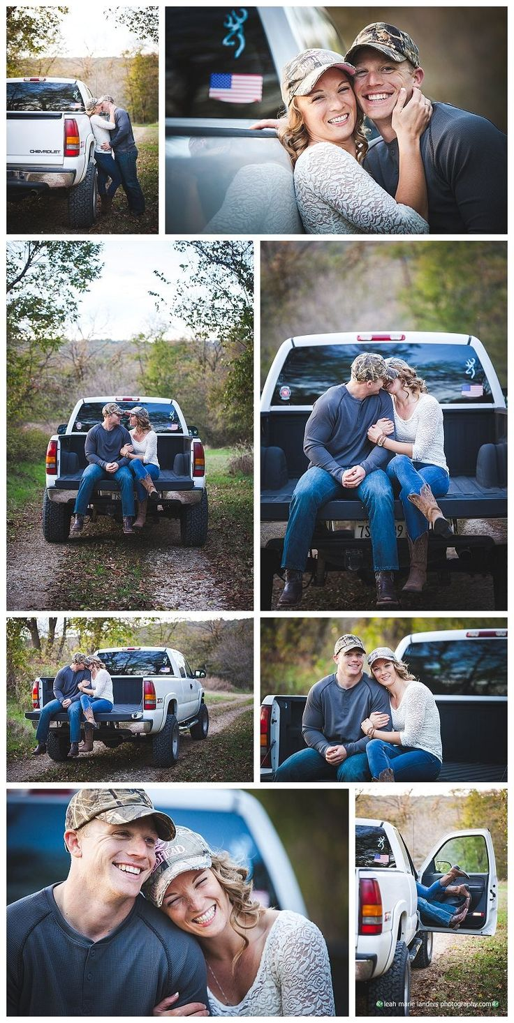 Northwest Arkansas Engagement Photographer | Engagement Photos with his truck | Camo Photos | Leah Marie Landers Photography