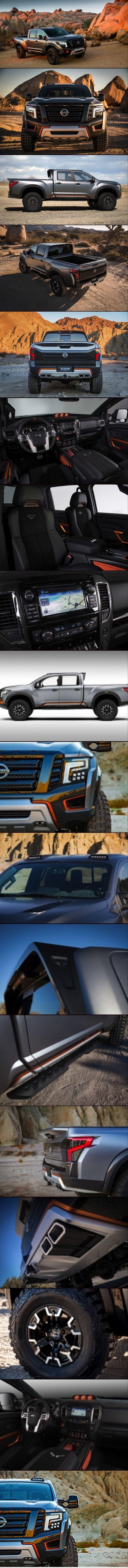 Nissan highlights amplified Titan Warrior Concept at 2016 NAIAS